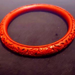 Vintage Chinese Cinnabar Bracelet
